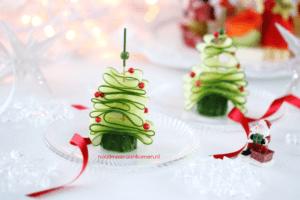 Komkommerkerstboompje kersthapjes